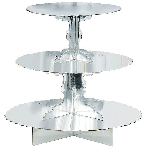 Silver Cupcake Stand Image #1