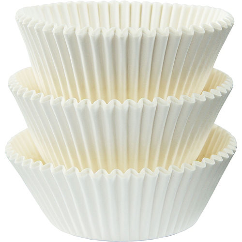 White Baking Cups 75ct Image #1
