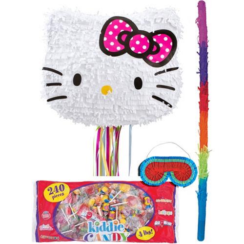 Pull String Hello Kitty Pinata Kit Image #1