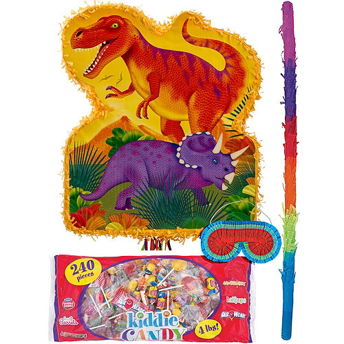 Pull String Prehistoric Dinosaurs Pinata Kit Image #1