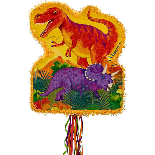 Pull String Prehistoric Dinosaurs Pinata Kit Image #2
