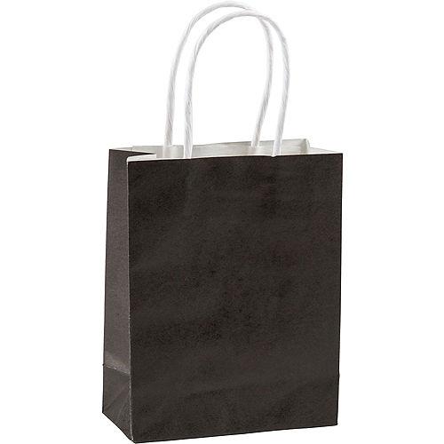 Medium Black Kraft Bags 10ct Image #1