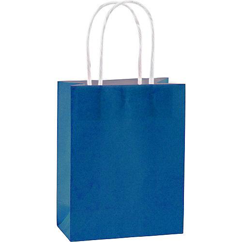 Medium Royal Blue Kraft Bags 10ct Image #1