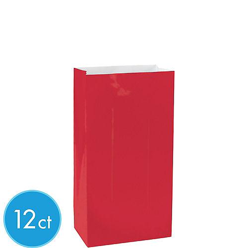 Mini Red Paper Treat Bags 12ct Image #1
