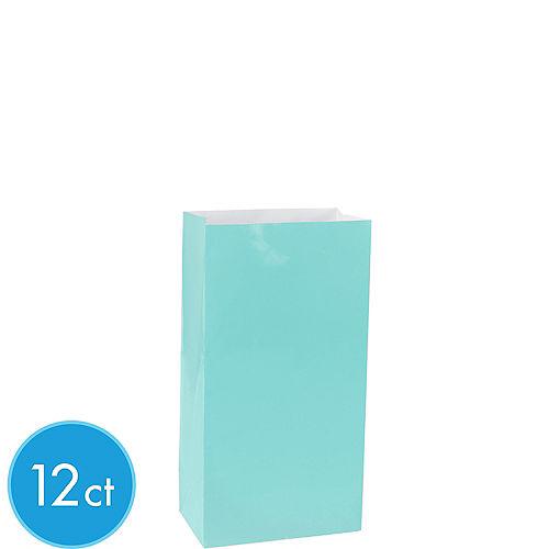 Mini Robin's Egg Blue Paper Treat Bags 12ct Image #1
