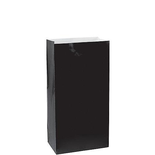 Medium Black Paper Treat Bags 12ct Image #1