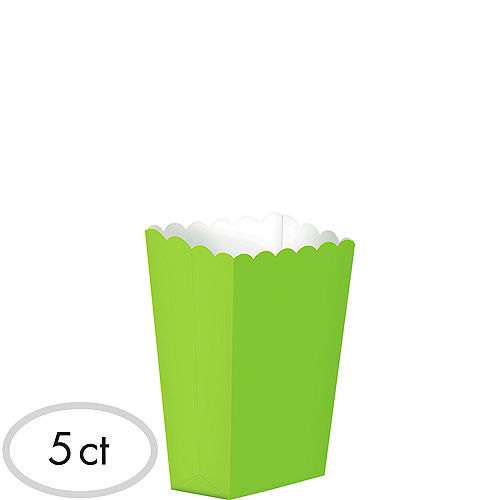 Mini Kiwi Green Popcorn Treat Boxes 5ct Image #1