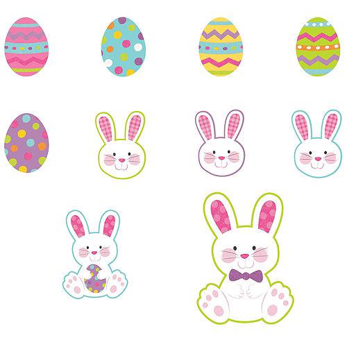 Mini Glitter Easter Cutouts 10ct Image #1