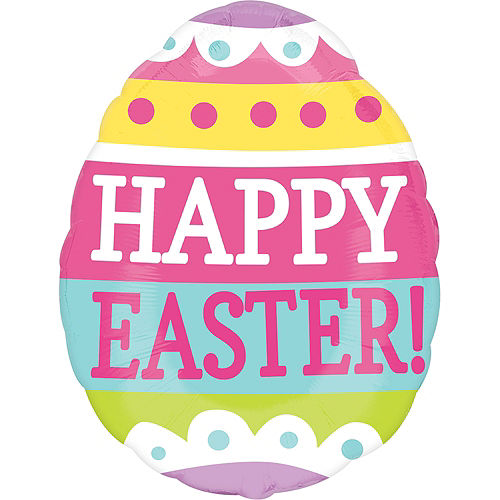 Happy Easter Balloon - Egg, 25in Image #1