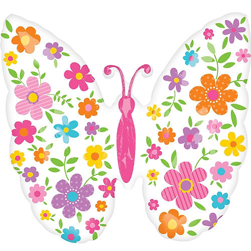 Spring Butterfly Balloon, 25in Image #1
