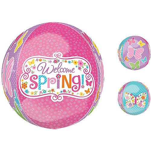 Spring Butterflies Balloon - Orbz, 15in Image #1