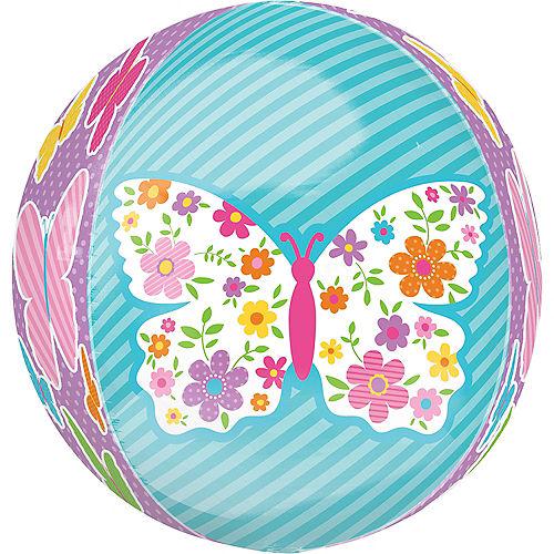 Spring Butterflies Balloon - Orbz, 15in Image #2