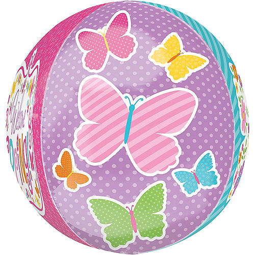 Spring Butterflies Balloon - Orbz, 15in Image #3