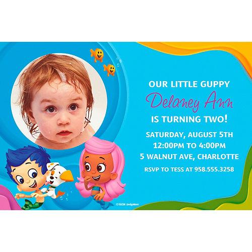 Custom Bubble Guppies Photo Invitations Image #1