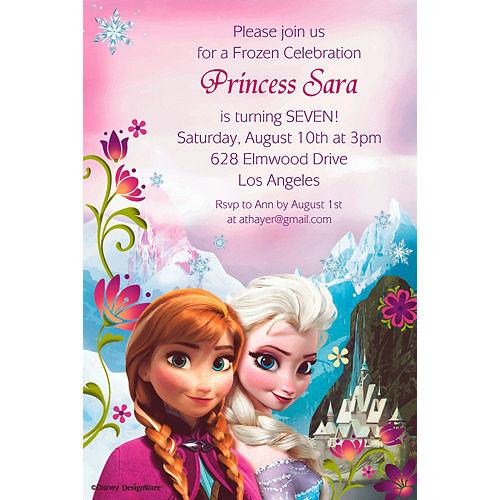 Custom Frozen Invitations Image #1
