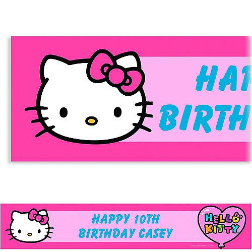 Custom Hello Kitty Rainbow Banner 6ft Image #1