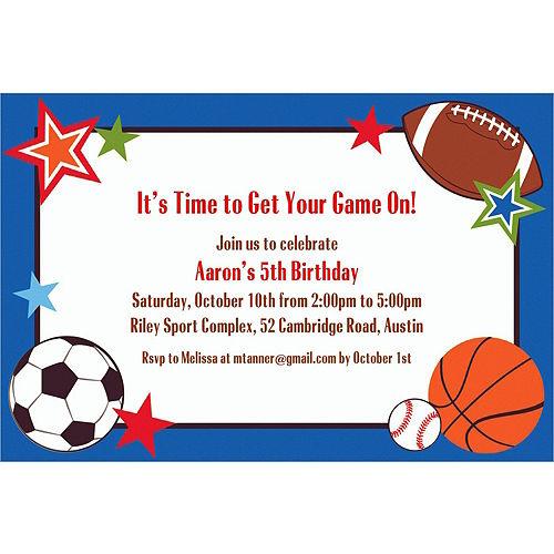 Custom Play Ball Party Invitations Image #1