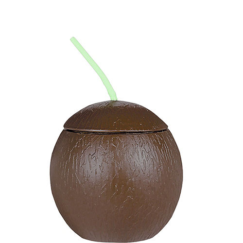 Coconut Cup with Straw Image #1