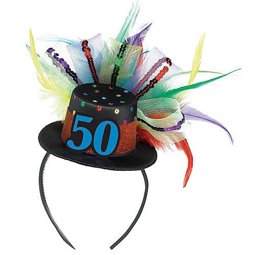50th Birthday Mini Top Hat Headband Image #1