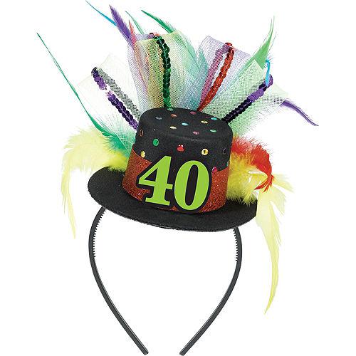 40th Birthday Mini Top Hat Headband Image #1