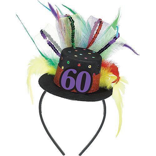 60th Birthday Mini Top Hat Headband Image #1