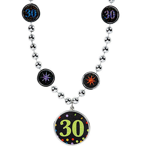 30th Birthday Pendant Bead Necklace Image #1