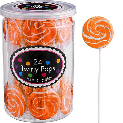 Orange Swirly Lollipops 24pc Image #1