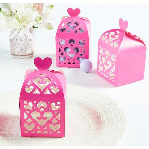 Bright Pink Lantern Favor Boxes Image #1