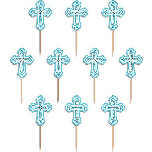 Blue Communion Party Picks 36ct Image #1