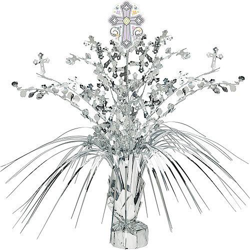 Silver Religious Spray Centerpiece Image #1