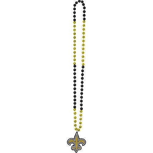 New Orleans Saints Pendant Bead Necklace Image #2