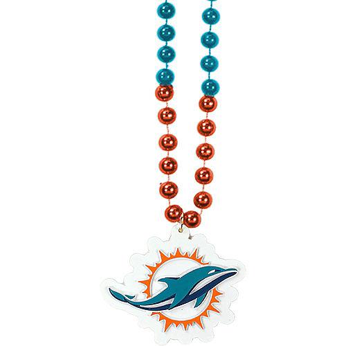 Miami Dolphins Pendant Bead Necklace Image #1