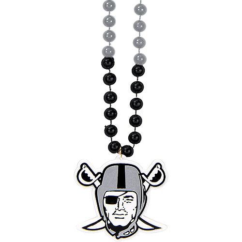 Las Vegas Raiders Pendant Bead Necklace Image #1