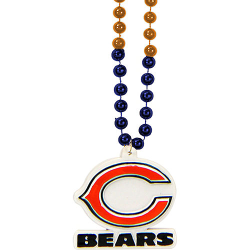 Chicago Bears Pendant Bead Necklace Image #1