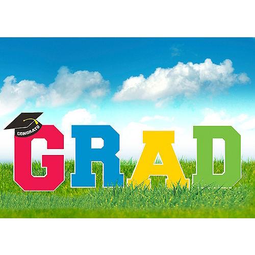 Multicolor Graduation Yard Signs 4ct Image #1