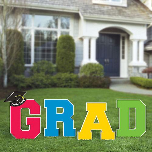 Multicolor Graduation Yard Signs 4ct Image #2