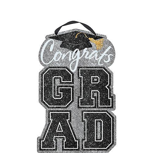 Glitter Congrats Grad Graduation Sign Image #1