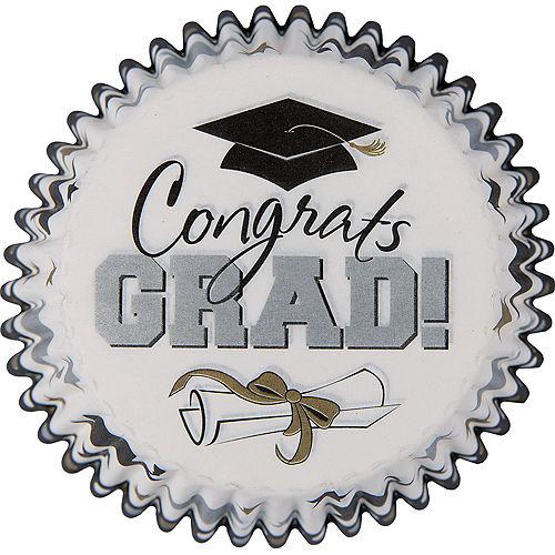 Black, Gold & Silver Graduation Cupcake Decorating Kit For 24 Image #2