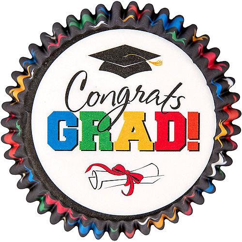 Multicolor Graduation Cupcake Decorating Kit For 24 Image #2