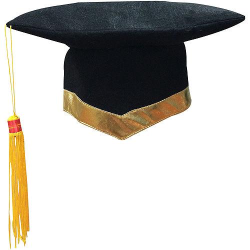 Black & Gold Graduation Hat Image #1
