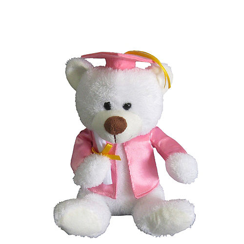 Pink & White Graduation Teddy Bear Image #1