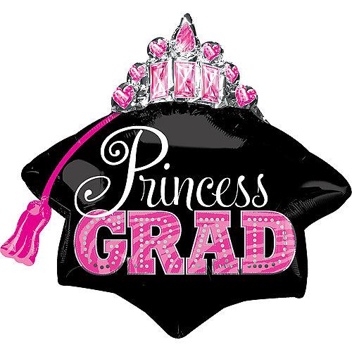 Princess Grad Tiara Graduation Balloon, 26in Image #1