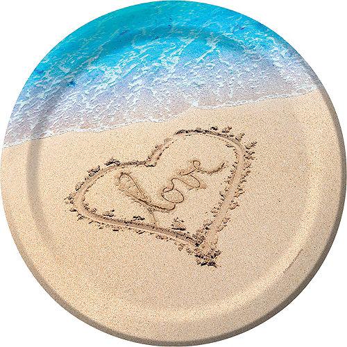 Beach Love Wedding Dinner Plates 8ct Image #1