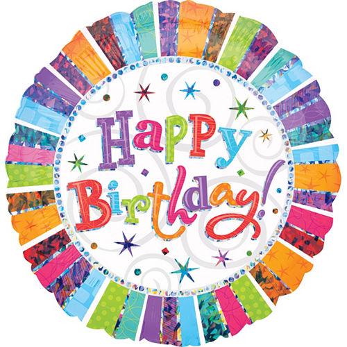 Radiant Happy Birthday Balloon, 36in Image #1