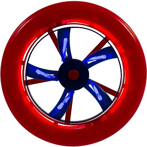 Patriotic Red, White & Blue Glow Stick Flying Disc Image #1