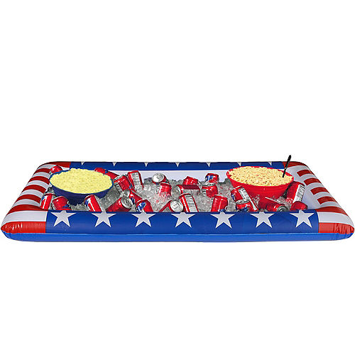 Inflatable Patriotic American Flag Buffet Cooler Image #1