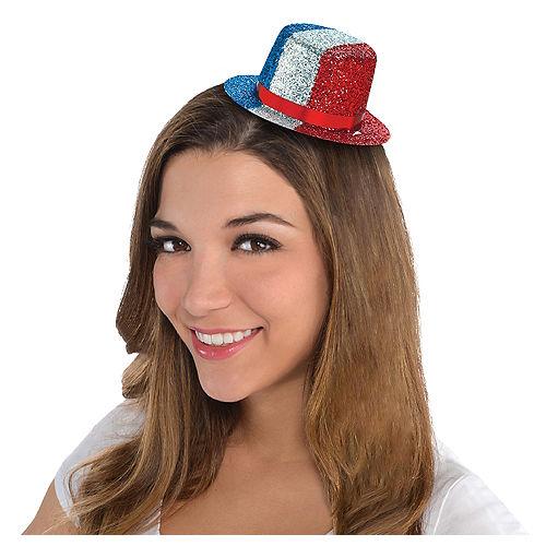 Glitter Patriotic Mini Top Hat Image #1