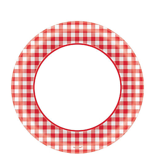 Picnic Party Red Gingham Lunch Plates 40ct Image #1