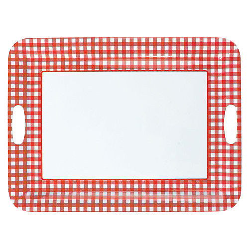 Picnic Party Red Gingham Serving Tray Image #1