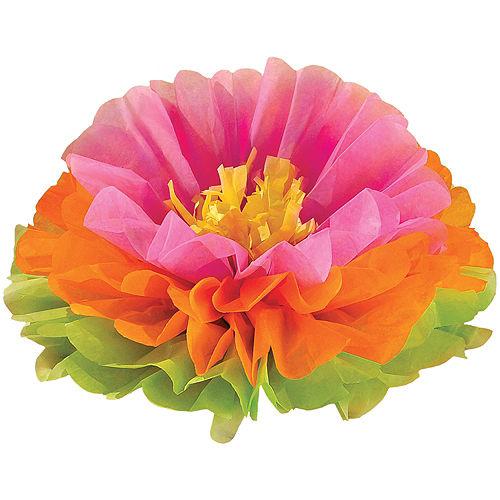Tropical Flower Tissue Pom Poms 3ct Image #2